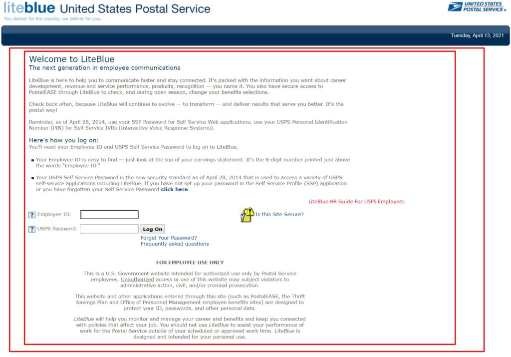 Contact Liteblue USPS Gov Human Resources